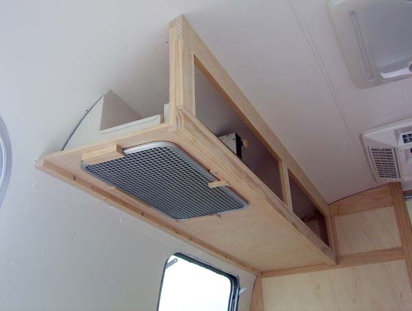 Here Is The Overhead Cabinet With The End Cap Attached.
