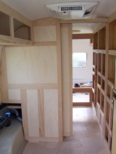 Pocket Doors Overhead Cabinet And Couch Airstream Forums